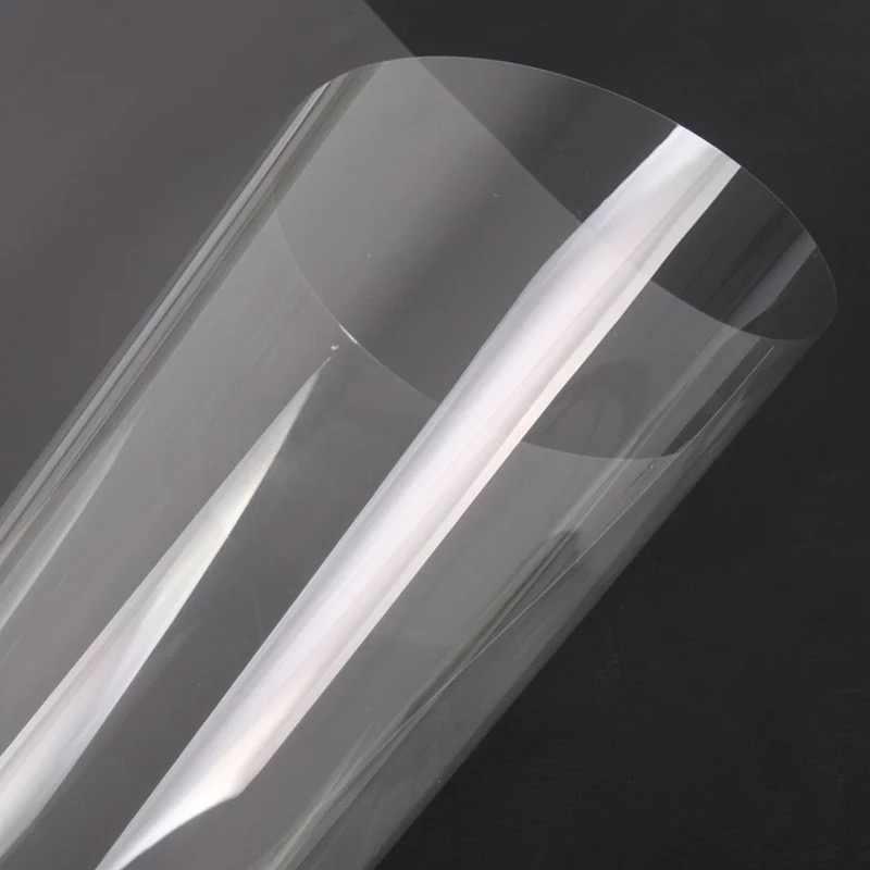 Olie-proof keuken Transparant muursticker kabinet Kachel behang zelfklevend Home decoratieve tafel film Voor Muur 45*200cm