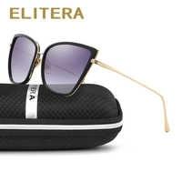 ELITERA 2020 Cat Eye Women Sunglasses Luxury Design Alloy Legs Sun Glasses Famele Retro Fashion Sunglass Shade Mirror UV400