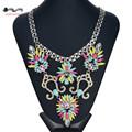 Brand Designer Flower Choker Women Necklaces & Pendants Fashion Statement Necklace 2016 Luxury Big Pendant Statement Jewelry