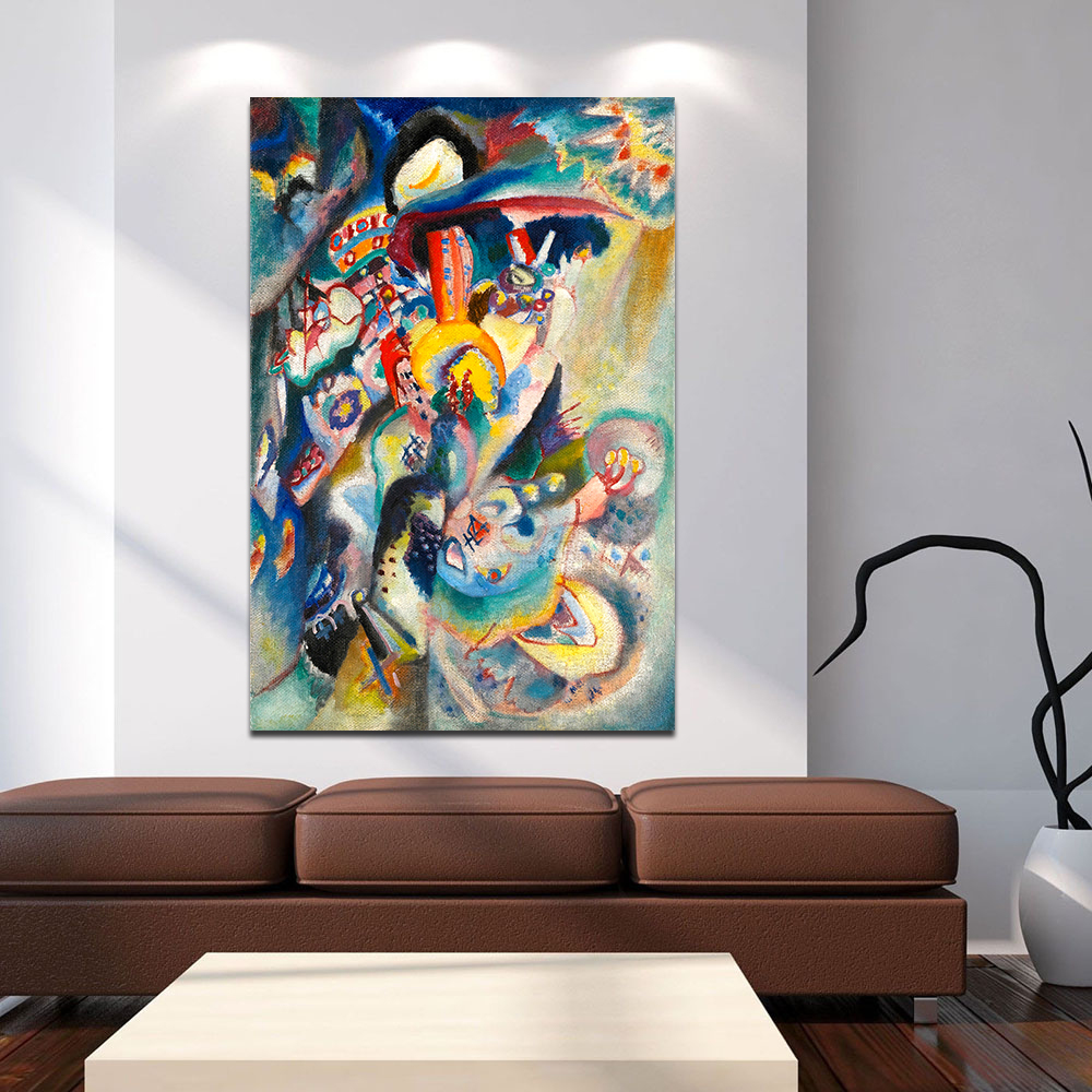 aliexpresscom  buy hdartisan modern abstract canvas art painting  - aliexpresscom  buy hdartisan modern abstract canvas art painting wassilykandinsky moscow ii wall pictures for living room home decor frameless from