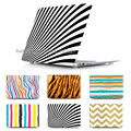 Unique Zebra pattern Case laptop Sleeve for Apple Mac book Pro Retina 13 15 Macbook Air 11 13.3 With transparent Cover