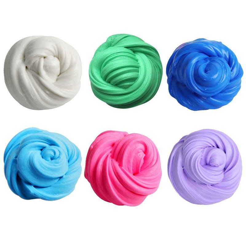 High Quality Colorful Fluffy Floam Slime Scented Stress Relief No Borax Antistress Sludge Cotton Mud Release Clay Toy Plasticine