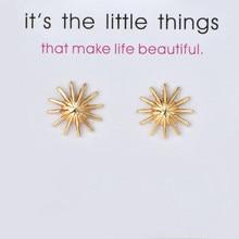 Fashion Card Jewelry New Arrived Sun Flower Stud Earrings For Women Wedding Bride Gift