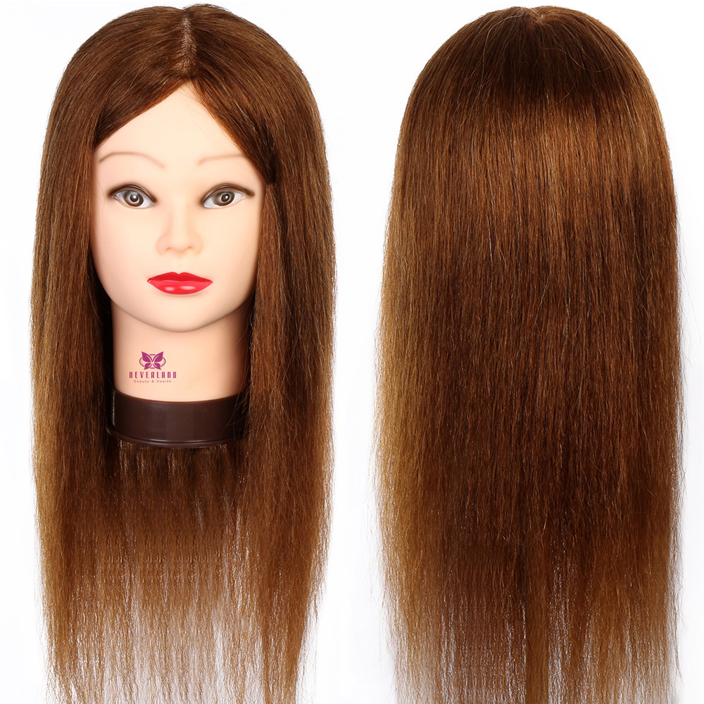 Image 4 - 100% Real Natural Human Hair Training Mannequin Head With Stand  Salon Professional Hairdressing Practice Manequi Head For  Barberhairdressing mannequinshuman hair traininghead hairdresser -