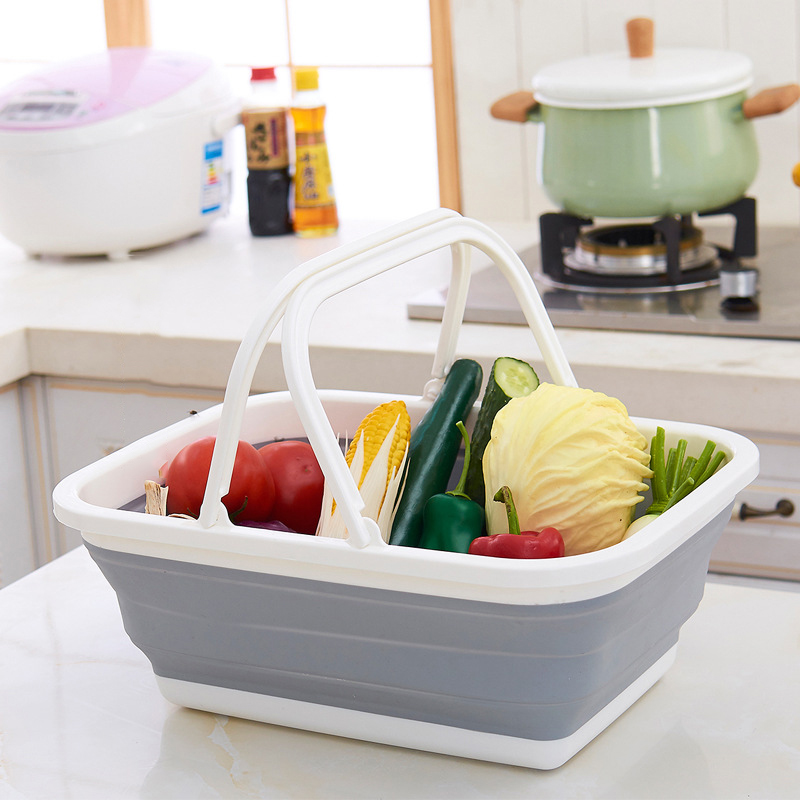 Vegetable, Home, Foldable, Silicone, Laundry, Storage
