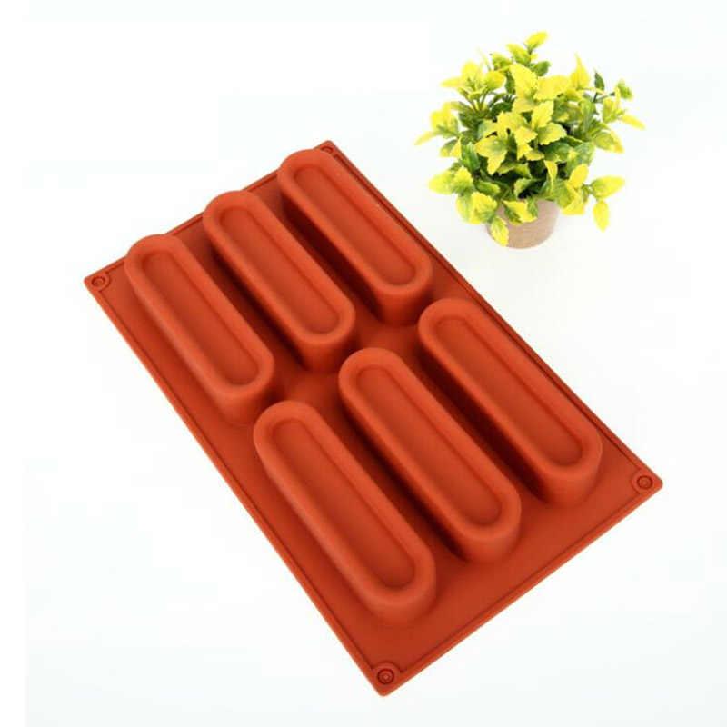 Mousse แม่พิมพ์ซิลิโคนอาหาร Strip เค้กถาด DIY Mousse Series เค้กตกแต่งเครื่องมือสำหรับเค้ก Bakeware