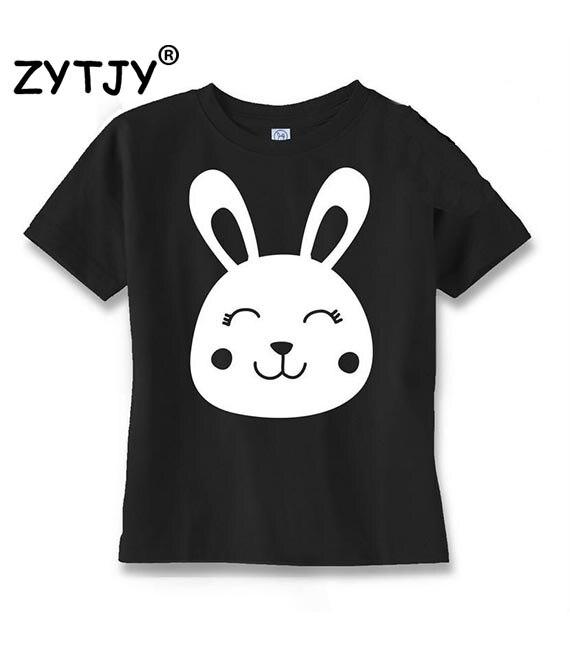 Bunny rabbit Print Kids tshirt Boy Girl shirt Children Toddler Clothes Funny Top Tees Z-87