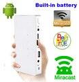 Последним Q7 3000 мАч Встроенный Аккумулятор 200 ANSI Android HDMI Video Miracast Micro USB Карманный СВЕТОДИОДНЫЙ Пико Мини-Проектор Для Iphone Ipad