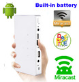 Newest Q7 3000mAh Built-in Battery 200ANSI Android HDMI Video Miracast Micro USB Pocket LED Pico Mini Projector For Iphone Ipad