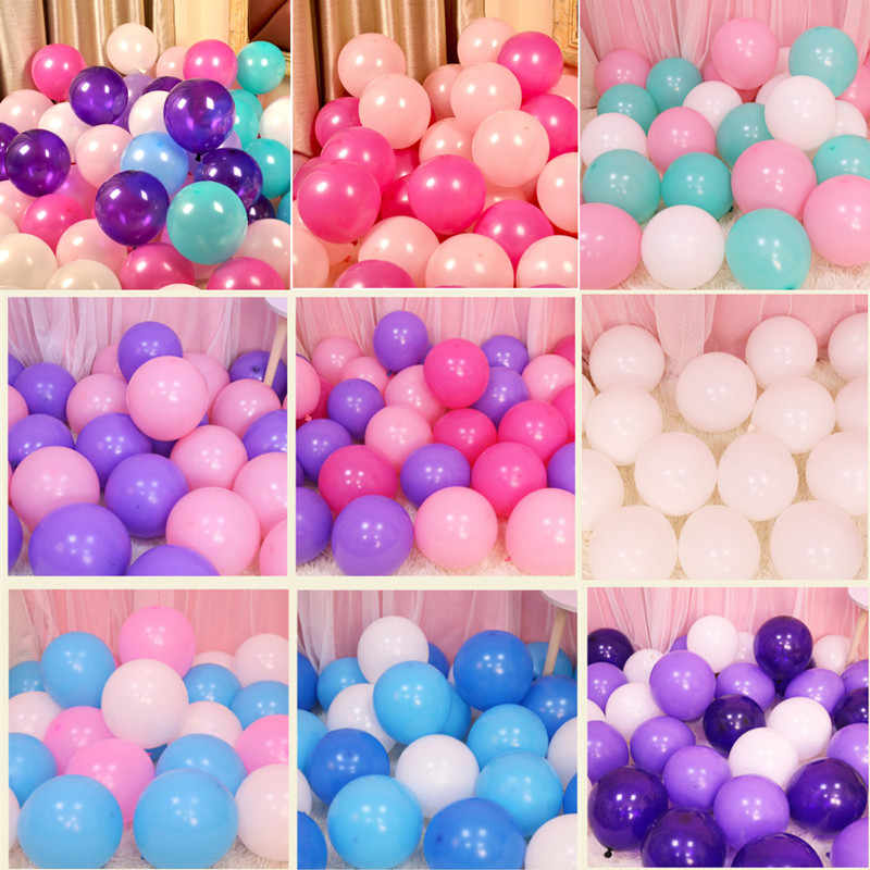 10pcs 12inch Baloon Valentine's Day Macaron Pink Balloon Decoration Party Helium Gas Balloons Babyshower Boy New Year Red Ballon