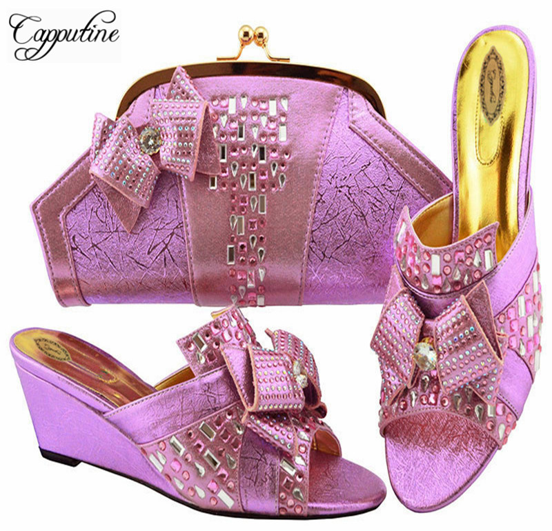 Conjunto Zapatos Purple light Pretty Violet Bolsa M1072 Juego teal Africano Coincidir amarillo Fucsia magenta Italiano A Bolso Con Y Para Bombas peach plata Color qfPRwfS