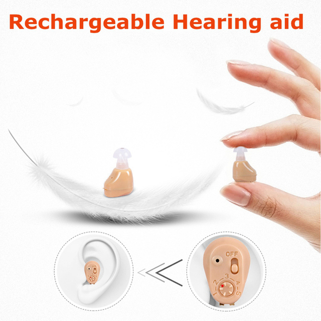NEW Rechargeable audiphone Mini Hearing Aid Hearing Amplifier Ear Sound Amplifier Hearing Aids Rechargeable Hearing aid 2