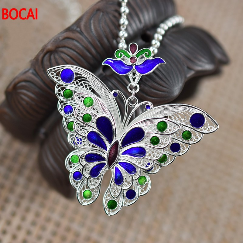 Pendant Bestie Handmade Butterfly Sterling-Silver Are Ethnic 99 Birthday-Gift Zuyin Female