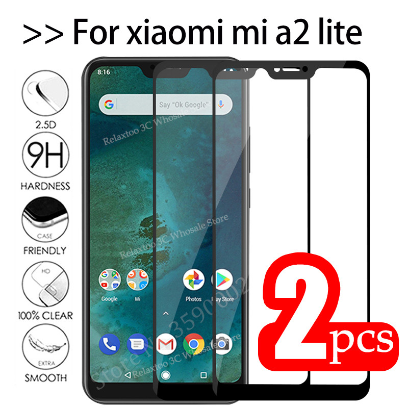 2pcs Mi A2 Lite Glass Tempered Glas For Xiaomi Mi A2 Lite Protective Glass On Xiomi Mia2 A2lite Mia2lite A 2 Light Safety Film