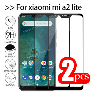 2pcs Mi A2 Lite Glass Tempered Glas For xiaomi mi a2 lite protective Glass on Xiomi Mia2 A2lite Mia2lite A 2 Light safety Film(China)