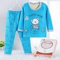 Pijamas одежда набор Зима Дети Хлопок флис Pijama печати Детские мальчики девочки Пижама дети футболку + брюки одежда наборы Пижамы