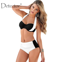 Detector New Sexy Bikinis Women Swimsuit High Waisted Bathing Suits Swim Halter Push Up Bikini Set