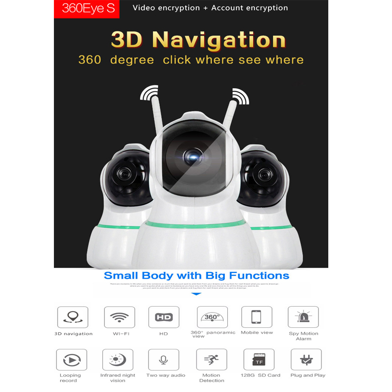 HD 1080P P2P WIFI IP rotation Code CCTV PTZ Robot Security Camera Support Two Way Audio,Motion Detection IP Camera rotation movements of robot manipulators in 1
