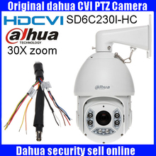 Original DAHUA CVI Camera 2MP 1080P 30X HDCVI PTZ Camera IP66 OSD Original English Version  SD6C230I-HC CVI PTZ dome camera