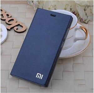 "Image 3 - Xiaomi mi4 Case Cover M4 MI 4 Luxury Slim Flip PU Leather Case Original size 5.0"" For Xiaomi Mi4 M4 Cover Bag screen protector"