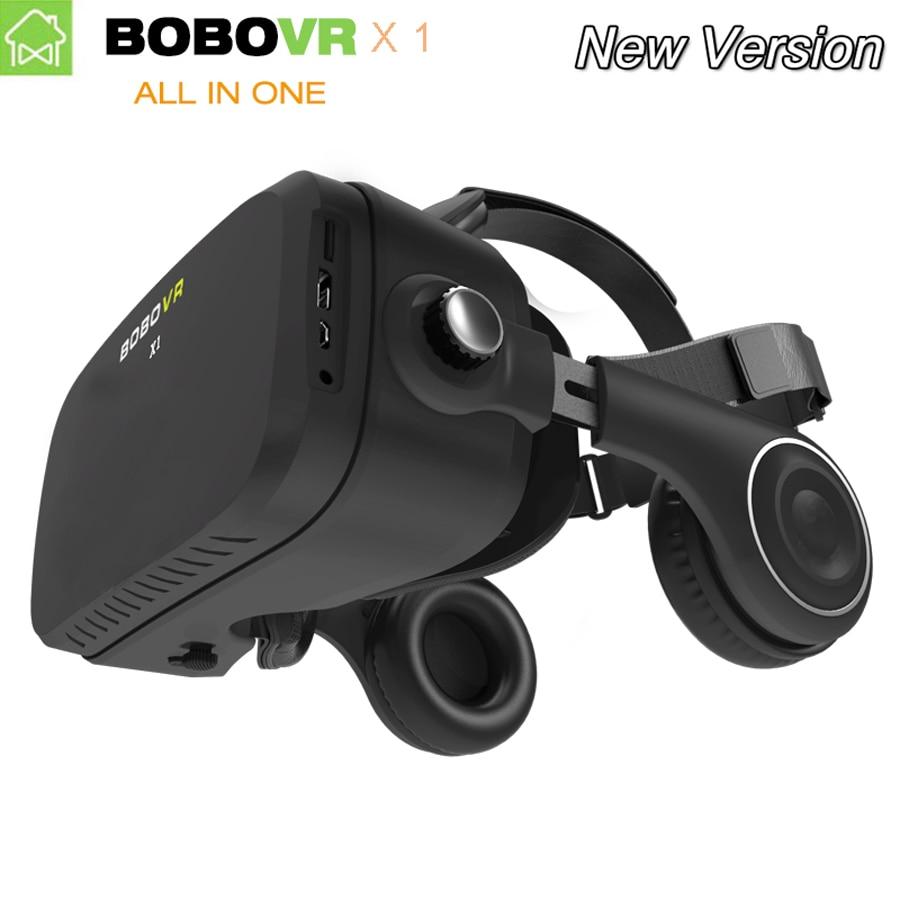Original BOBOVR X1 all in one VR BOX google Cardboard Octa core 1080P Virtual Reality 3D VR Glasses with headphones 32G storage
