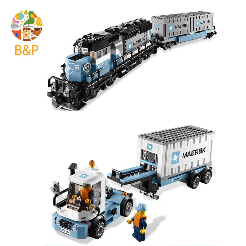lepin Legoing 10219 1234Pcs Technic Series The Maersk Train Building Blocks Brick Educational Toys For Children 21006 lepin legoing 70612 592pcs ninjago series the green ninja mech dragon building blocks brick educational toys for children 06051