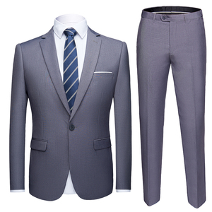 Business Formal Men Suits Solid One-button Blazer Pants Marriage Tuxedo male 2 Piece suit Men Terno wedding Suit slim fit 2020