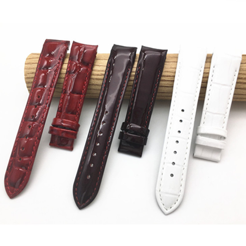18mm Buckle16mm For Tissot Women Watch T035210A T035207 High Quality Genuine Leather Watch Bands Strap in Watchbands from Watches