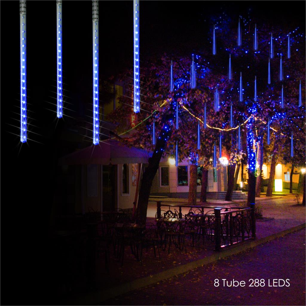Solar LED Outdoor Lights Meteor Shower Rain Lights Icicle Raindrop Snow Falling Lights Garden Holiday Wedding Party Decoration