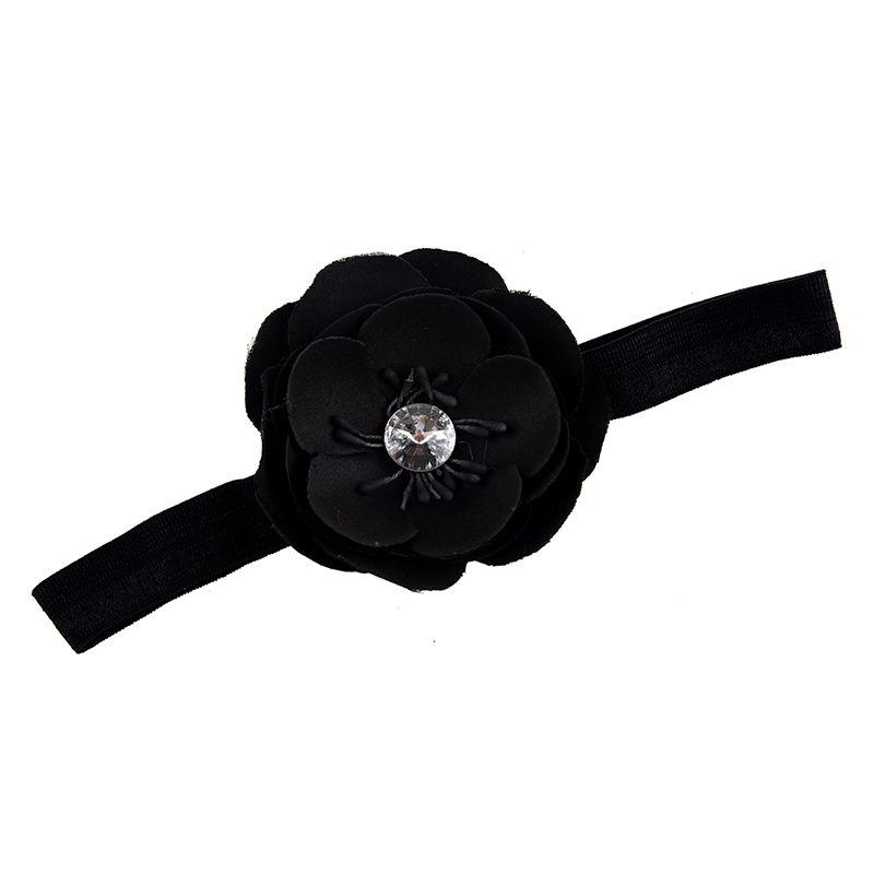 Infant Girl Baby Toddler Flower Headband black ...