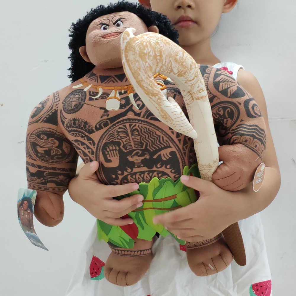"""Arrière véritable Moana grand Maui 15 """"peluche poupée parlante avec étiquettes"""