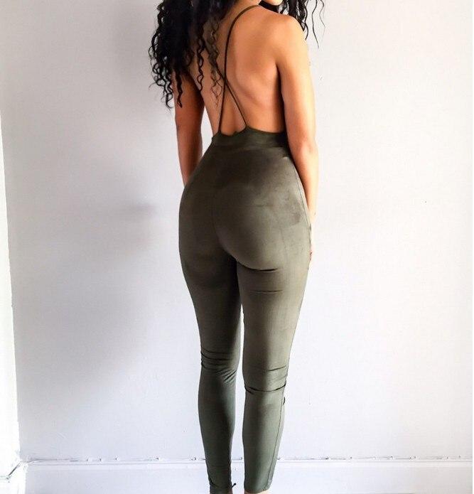83a7b838ed9e1 bodysuit women rompers summer jumpsuit BLACK backless bodysuit v ...