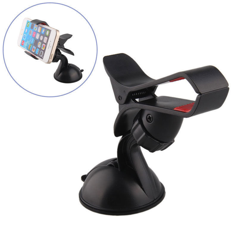 Universal Rotating Car Windshield Mount Holder Bracket Cradle Stand Soporte Movil Car Porta Celular for iPhone 6 6S 7 8 Plus X