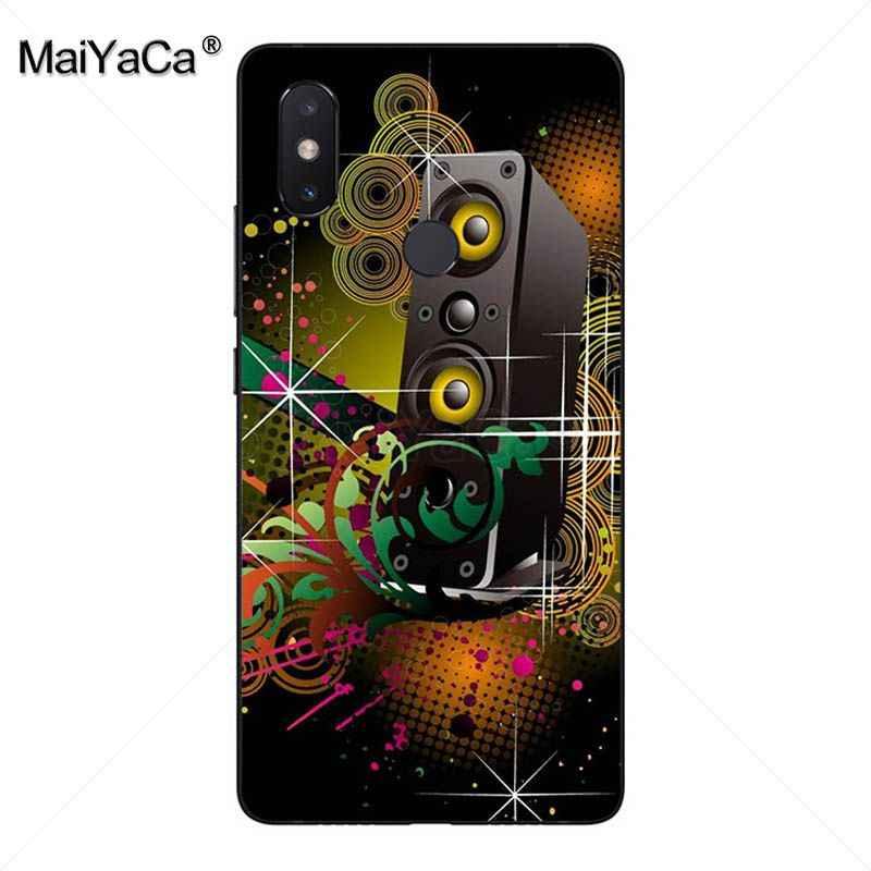 MaiYaCa dj música Colorido Desenho Caso de telefone tpu macio para xiaomi mi caso note3 5 plus nota redmi 5 5 6 8se coque
