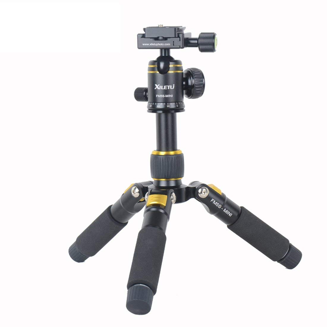 XILETU FM5S Mini Tabletop Tripod and Ball Head Kit For DSLR Mirrorless Camera Smart phone Lightweight