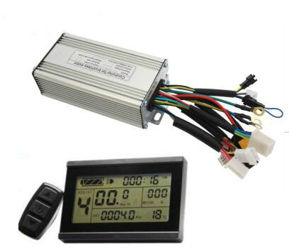 Ebike 24V 36V 48V 500W Controller 25A Brushless + LCD3 Electric Bicycle Display Panel Regenerative and Reverse Function