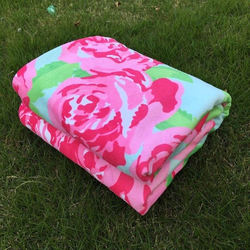 Оптовая продажа Лили Pulitzer Мягкий хлопок детские одеяла розы Детские одеяла 100% хлопок Младенцы одеяла в 7 цветов DOM103434
