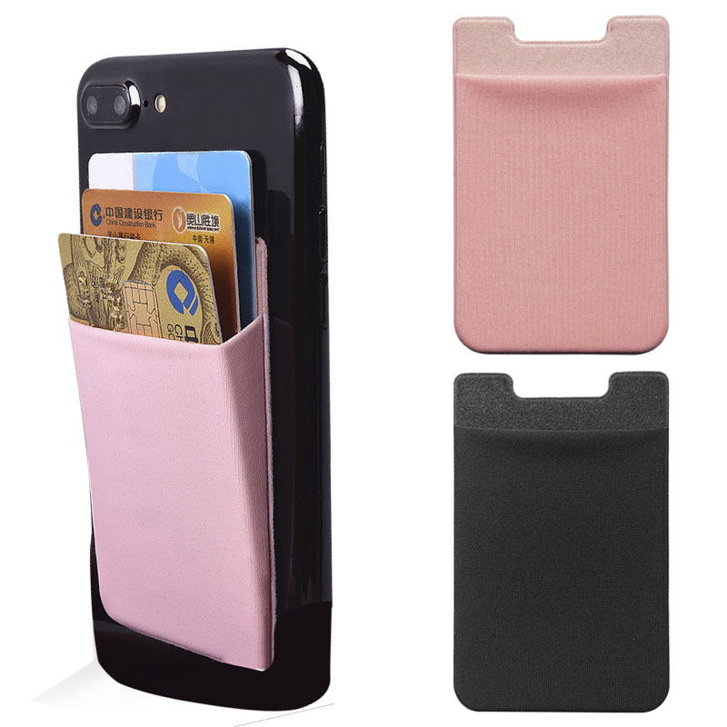 U Type Elastic Lycra Cell Phone Wallet Case Credit ID Card Holder Pocket With Adhesive For iPhone Xiaomi Fit the Most Phone Сотовый телефон