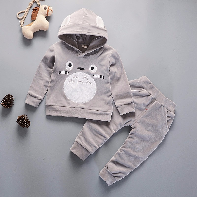 Winter Kids Clothes Hooded Coat Cartoon toddler girl clothes autumn Warm children clothing suit fashion baby christmas clothes toddler boys velvet suit baby girl kids winter clothes fashion warm children clothing set autumn 2018 outerwear girls outfits