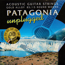 MAGMA  Acoustic guitar strings PATAGONIA unplugged – 85/15 Gold Alloy – Round Wound   GA120G( .010-048) Light