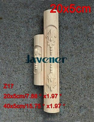 Z17 -20x5cm Wood Carved Onlay Applique Carpenter Decal Wood Working Carpenter Leg Decoration