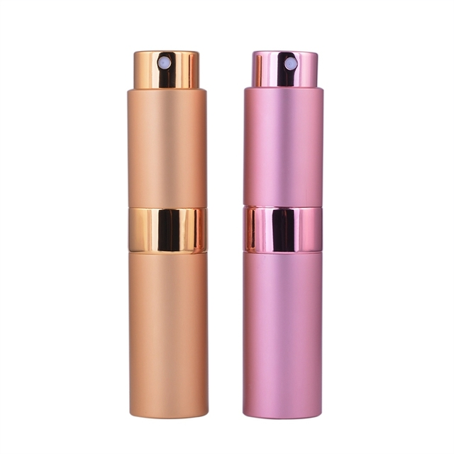 MUB - Fashion (2pcs/lot) Whirling Travel Mini Spray Pump Perfume Bottles 8ml Empty Refillable Perfume Atomizer For Women