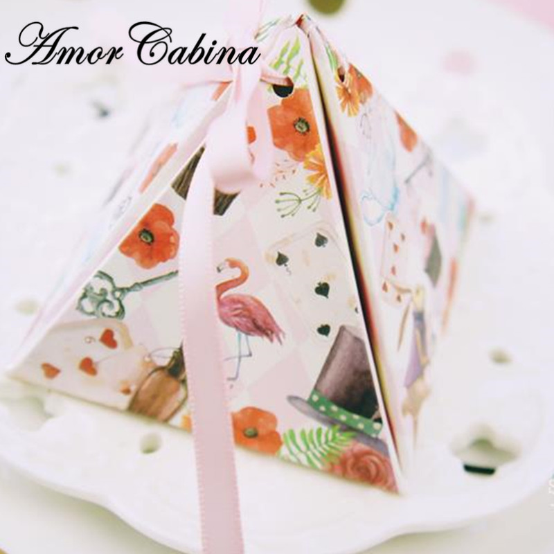 30pcs rabbit and flower candy box packaging chocolate box romantic wedding like gift box party decoration