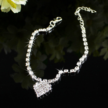 2015 hot sell Foot Jewelry Multi-pattern Love Heart Wedding Sandal Beach Star Crystal Anklet Chain  56HB