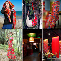 CF107 1 Meter Chinese National Ethnic Pattern Twill 100 Cotton Fabric Phoenix Peony Flowers Fabric For