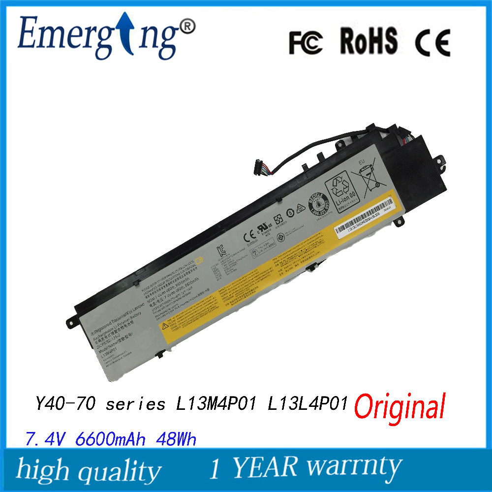 7.4V 48WH New  Original  Laptop Battery for Lenovo Erazer  Y40-70 series L13M4P01 L13L4P01