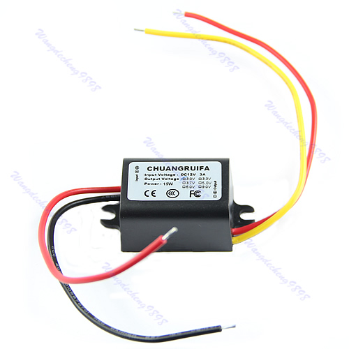 Hot Waterproof DC/DC Converter 12V Step Down to 9V 3A 15W Power Supply Module W315