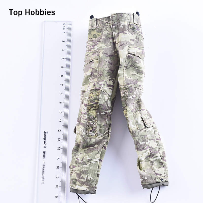 1/6 Scale Soldiers accessories Artillery Artist Costa MC Camouflage Combat Pants trousers Elastic Fit 12Phicen HT Action Figure