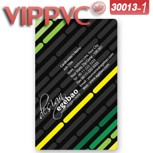 a30013-1 Card Design Template for Single side Matte face 85.5X54mm 0.36mm Transparent Business Card
