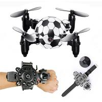 RC Helicopter Mini Drone With Camera HD WIFI FPV Selfie Drone Professional Foldable Quadcopter Watch Remote Control Quadrocopter